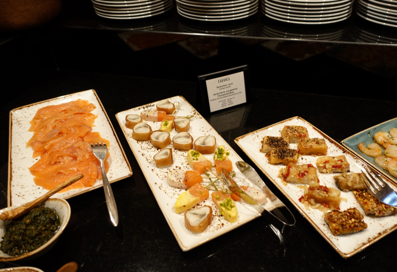 Smoked Salmon, Breakfast Buffet at Hotel de Rome, Berlin