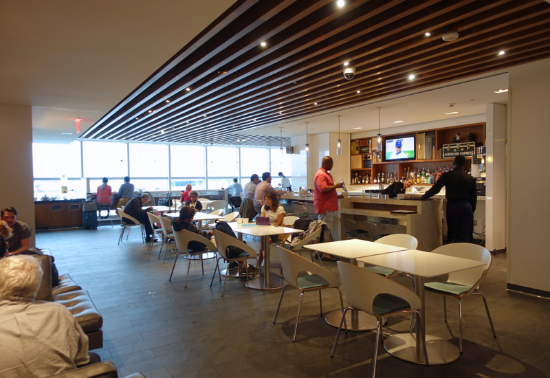 Main Dining Area and Bar, AMEX Centurion Lounge, New York LGA Airport