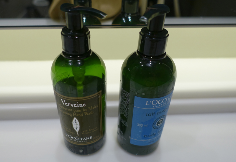 Review: AMEX Centurion Lounge New York LGA Airport-L'Occitane Hand Wash and Moisturizer