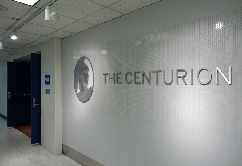 Entrance, AMEX Centurion Lounge, New York LGA Airport