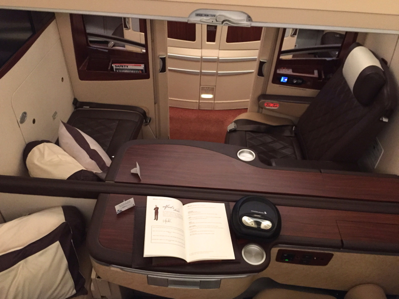 Review: Singapore Suites A380-Couple's Suites Can Be Made into a Double Bed