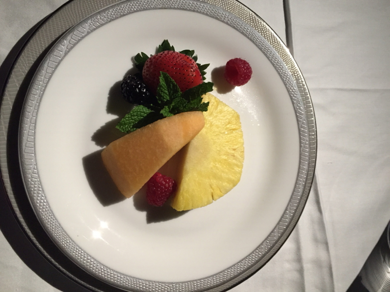 Fresh Fruit Plate, Singapore Suites on the A380