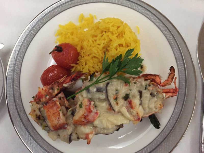 Lobster Thermidor, Singapore Suites on the A380 Review