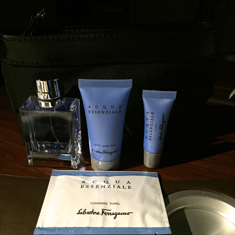 Review: Singapore Suites A380 Amenity Kit with Salvatore Ferragamo Products