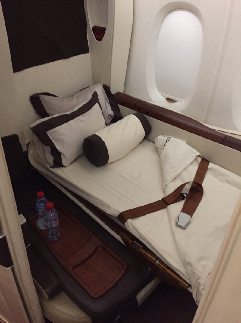 Singapore Suites A380 Review-Bed After Turndown Service