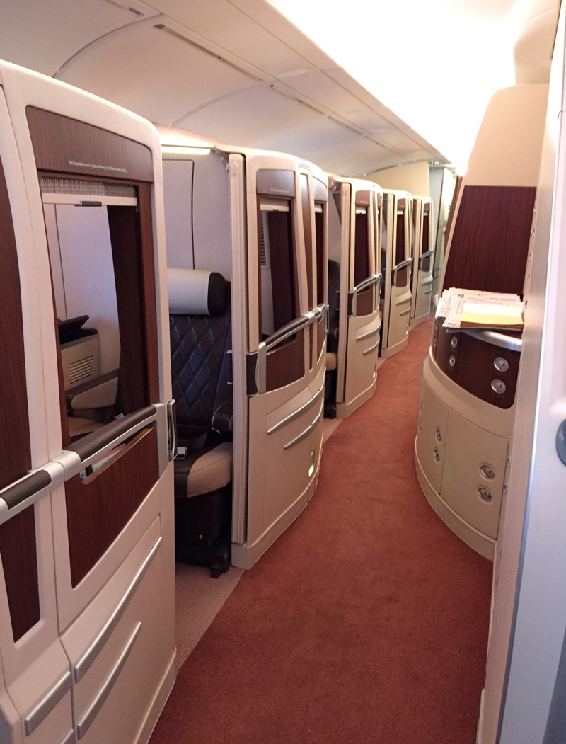 Review: Singapore Suites A380 JFK to Frankfurt-Suites Cabin