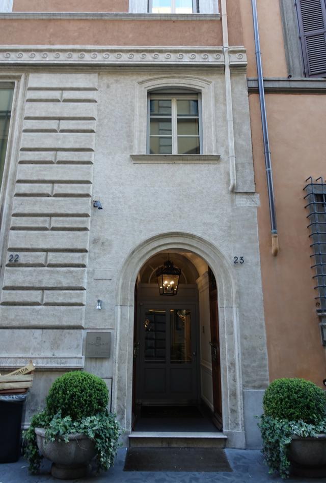 Review: Portrait Roma Hotel Entrance