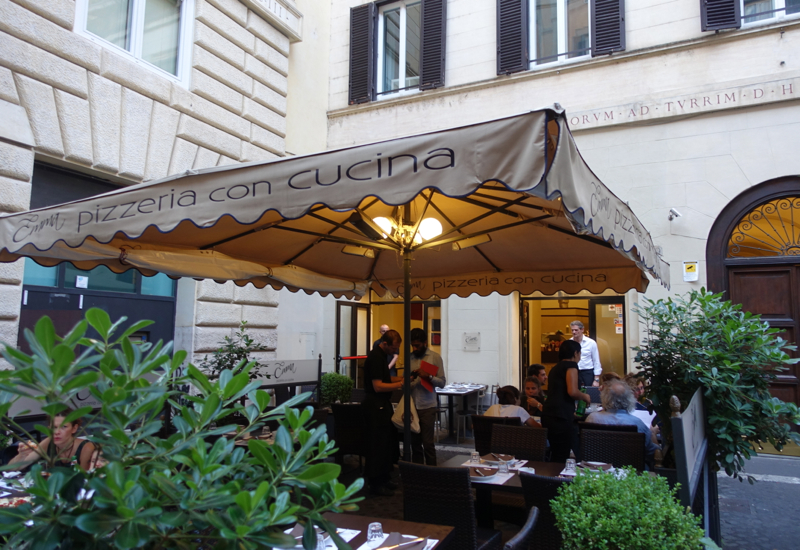 Emma Pizzeria Rome Review-Outside Terrace
