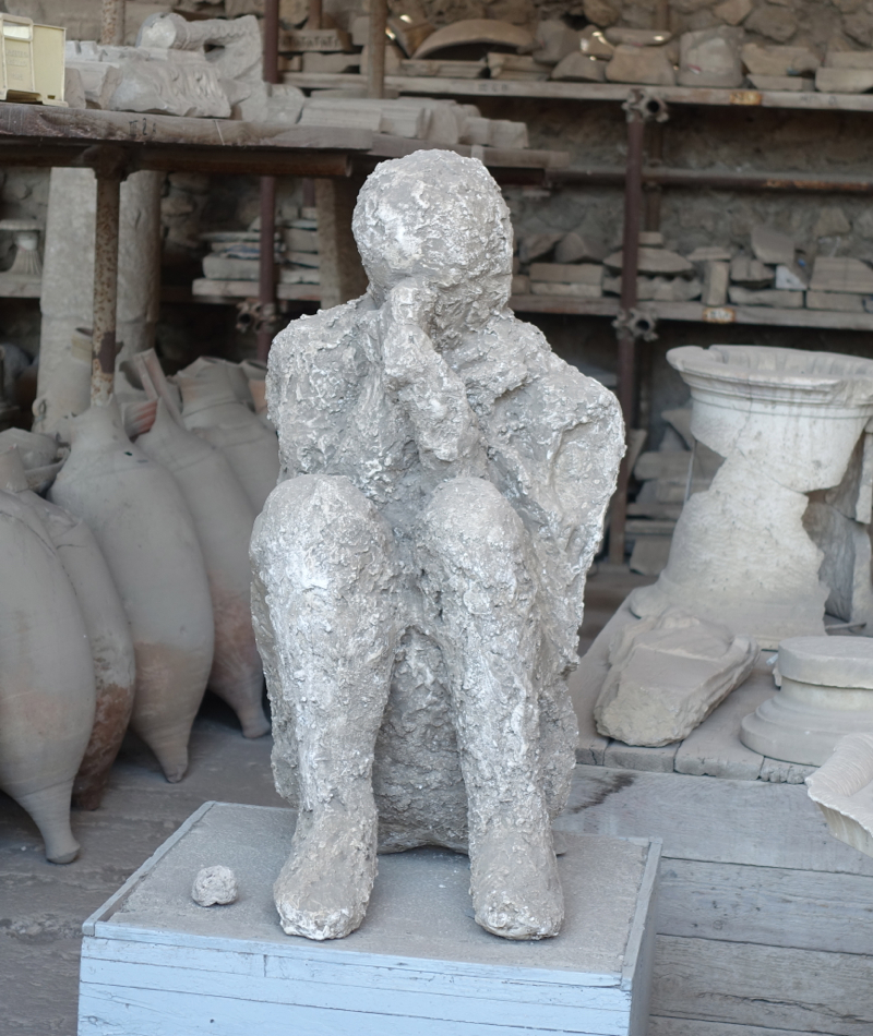 Pompeii Review-Plaster Cast of Body of Victim