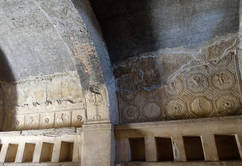 Pompeii Review-Roman Baths Ceiling and Storage Cubby Holes