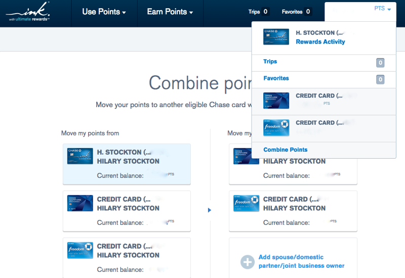 Ultimate Rewards Points Transfers to Spouse: Combine Points
