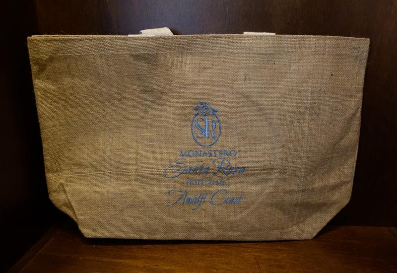 Complimentary Tote Bag, Monastero Santa Rosa Review