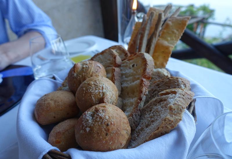 Fresh Bread, Il Refettorio Restaurant at Monastero Santa Rosa