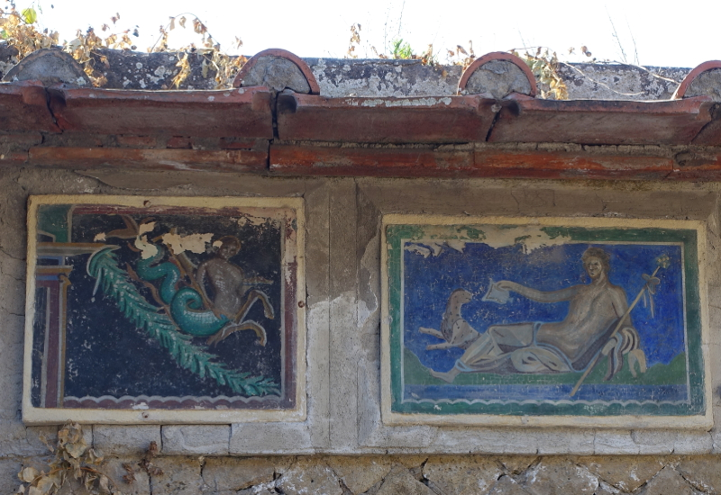 Herculaneum: Mosaics at House of the Skeleton