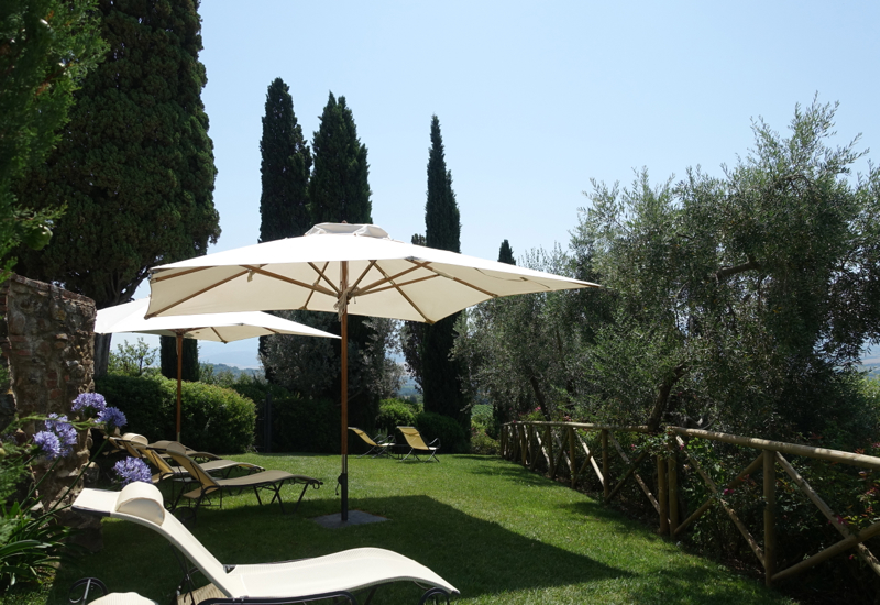 Review: Castello Banfi Il Borgo, Tuscany Italy - Lounge Chairs by Pool