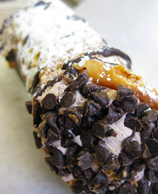 Chocolate chip mousse cannoli, Mike's Pastry, Boston