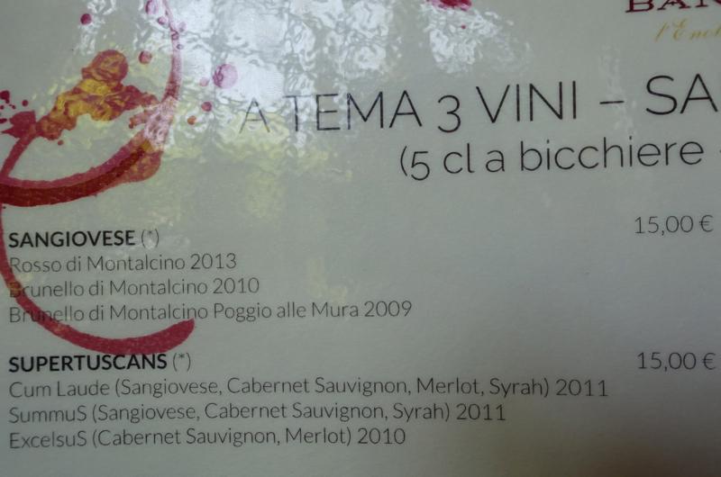 Castello Banfi Wine Tasting: Sangiovese and Brunello, or Supertuscans