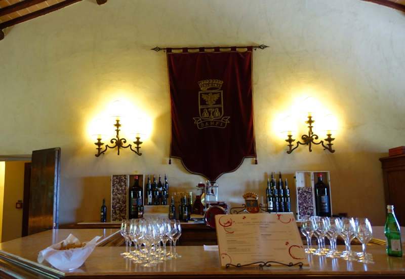Castello Banfi Wine Tasting Area of L'Enoteca Wine Shop