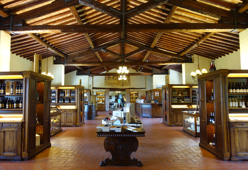 Castello Banfi Winery Tours Meet in the Enoteca Wine Shop