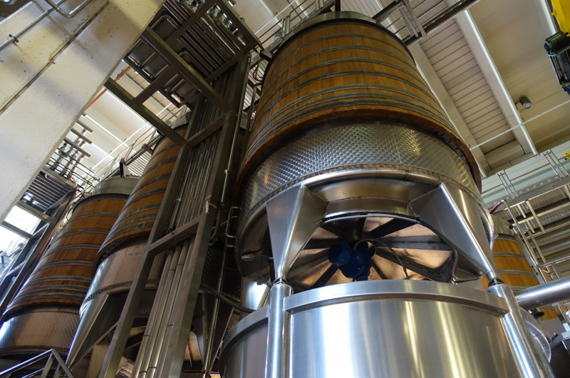 Castello Banfi Winery Tour: Hybrid Oak and Stainless Steel Fermentation Tanks