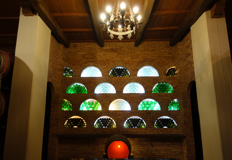 Castello Banfi Winery Tour: Wine Bottle Decor