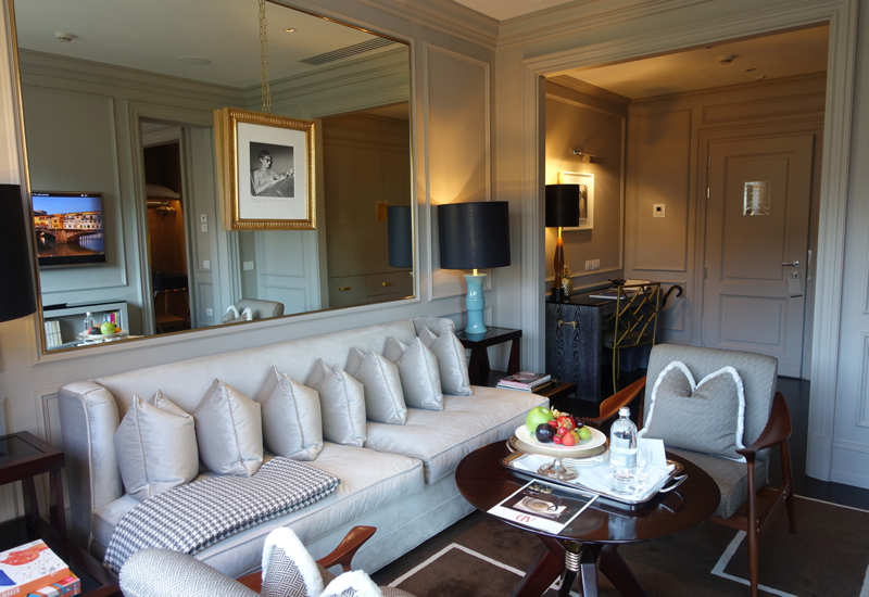 Review-Portrait Firenze Hotel Florence Italy-Superior Suite Living Room