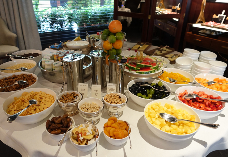 Review: Portrait Firenze Breakfast Buffet--Fresh Fruits, Cereals, Yogurts