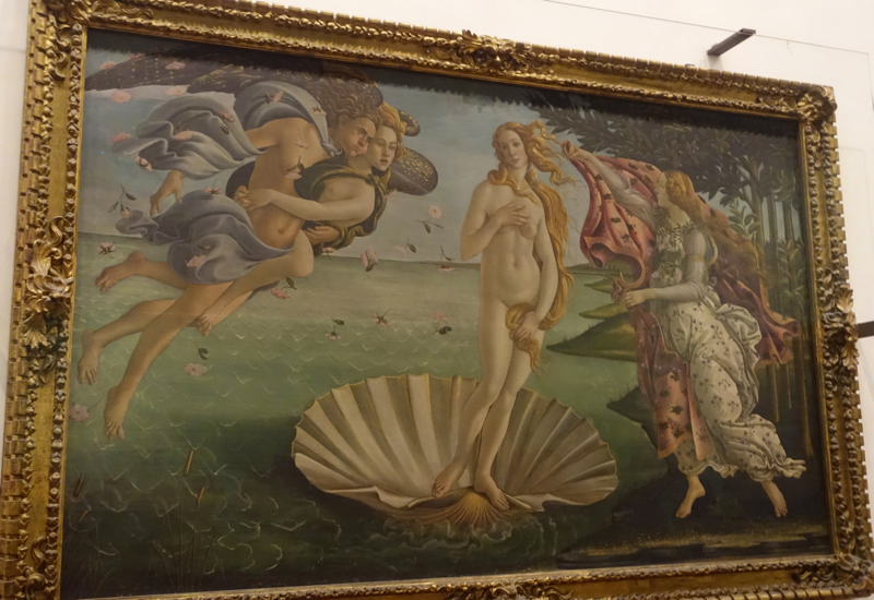Birth of Venus by Botticelli, Uffizi Gallery, Florence