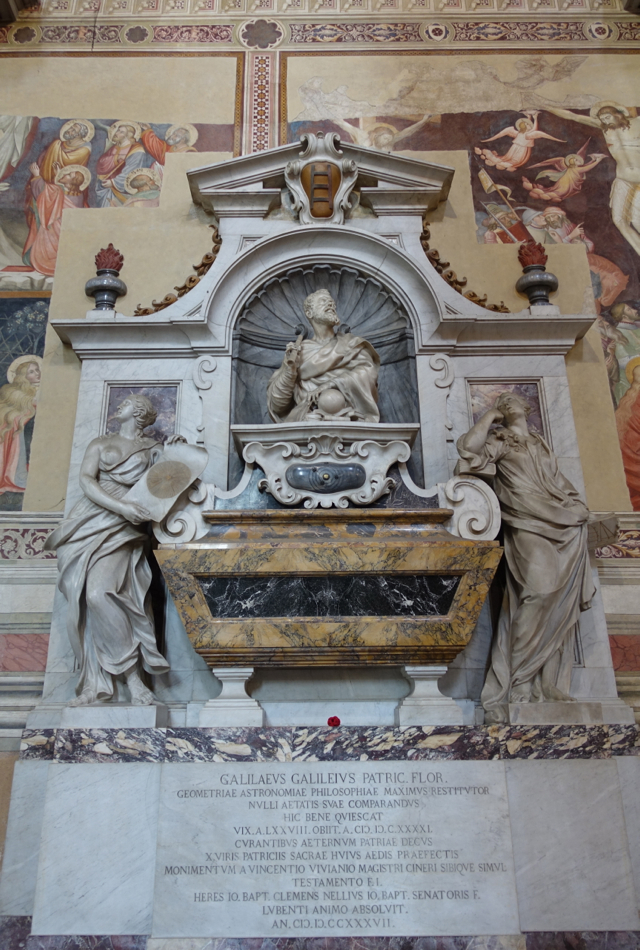Galileo's Tomb, Santa Croce, Florence Italy