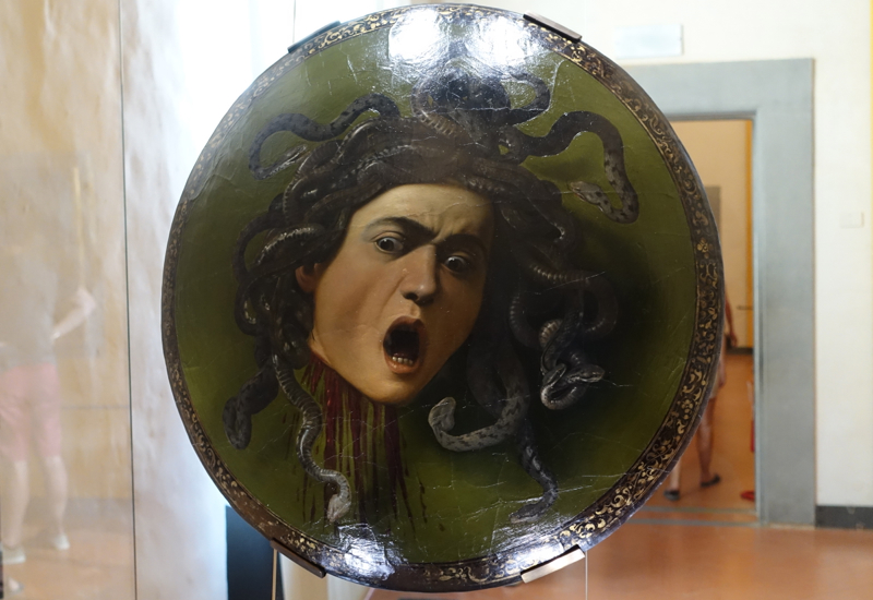 Medusa by Carvaggio, Uffizi Gallery, Florence