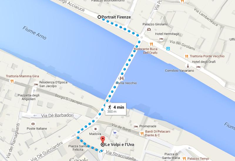 Le Volpi e L'Uva Wine Bar Location, Florence