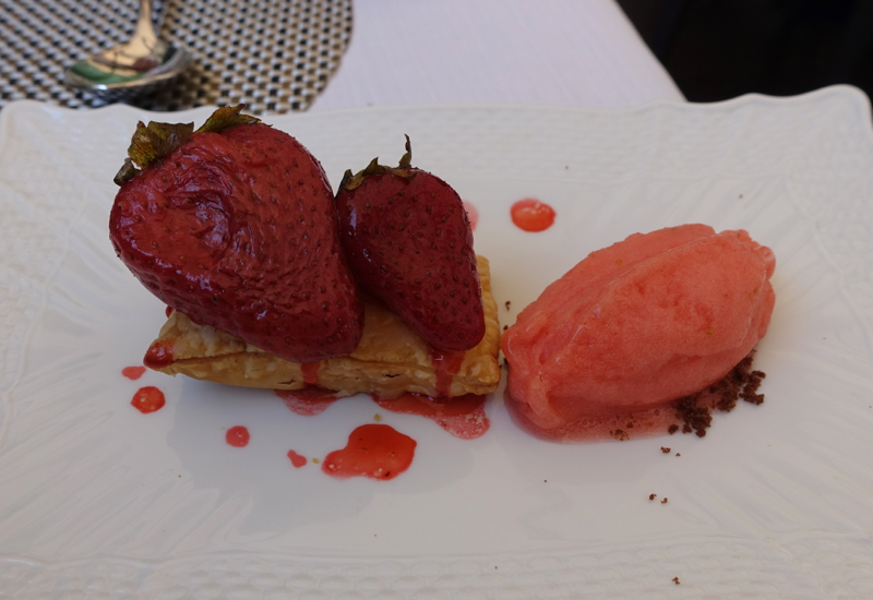 Sfogliatella with Baked Strawberries, Irene Restaurant, Florence