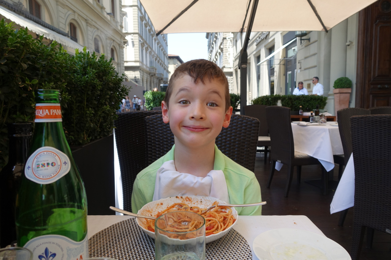Enjoying Lunch at Irene Restaurant, Hotel Savoy, Florence