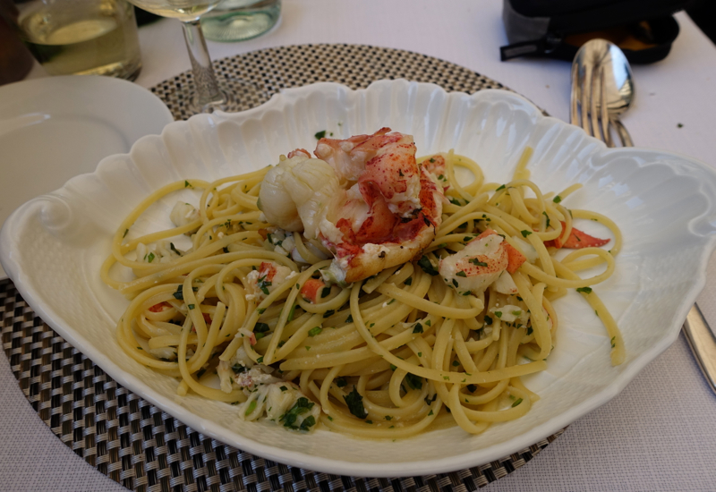 Lobster Linguine, Irene Restaurant, Florence