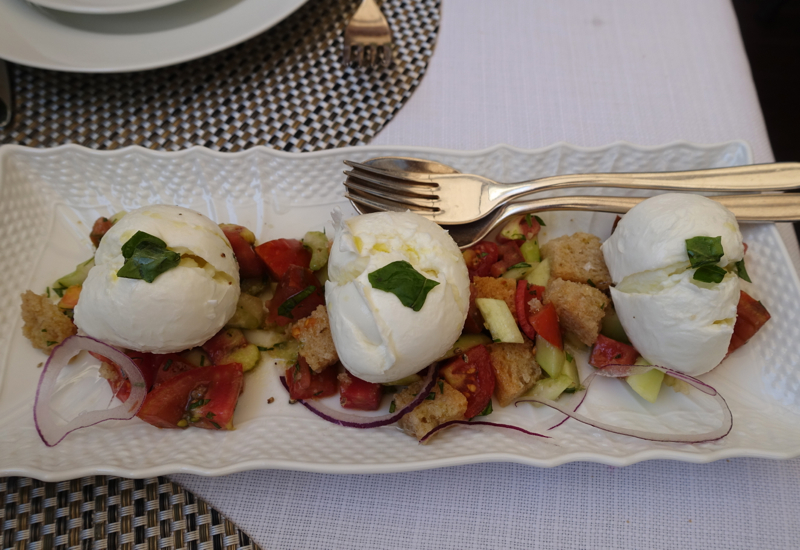 Panzanella with Mozzarella, Irene Restaurant, Florence