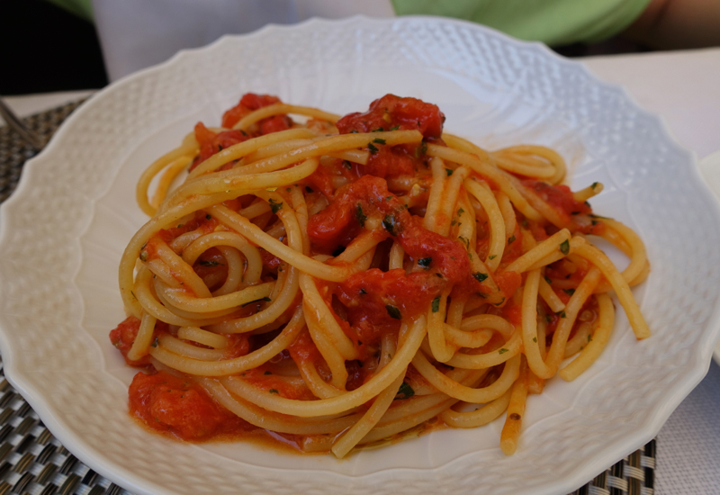 Spaghetti with Tomato and Basil, Irene Restaurant, Florence
