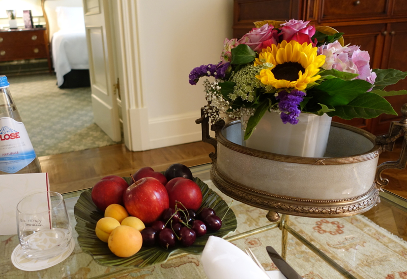 Fresh Flowers and Fruit Welcome Amenity, Four Seasons Firenze Florence