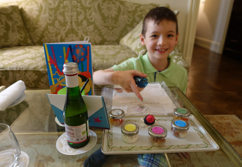 Review-Four Seasons Florence: Enjoying the Kids' Welcome Amenities
