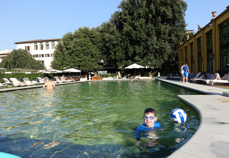 Kids Will love the Pool at the Four Seasons Florence