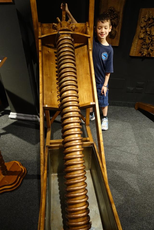 Archimedean Screw, Leonardo da Vinci Museum, Florence