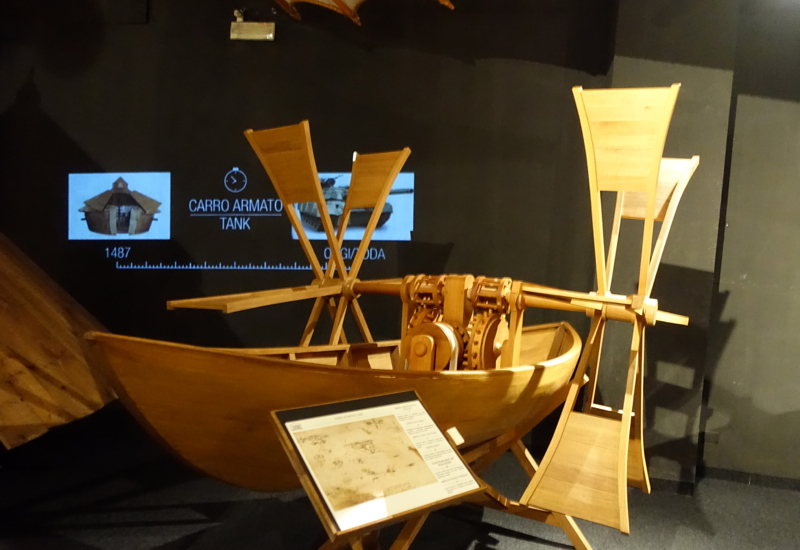 Paddle Boat, Leonardo da Vinci Museum