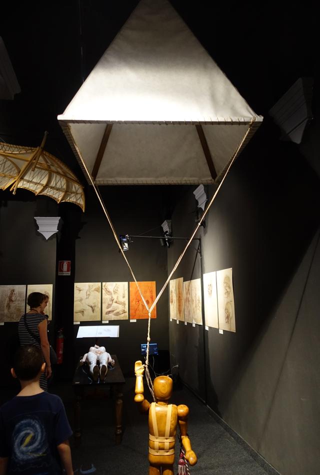 Parachute, Leonardo da Vinci Museum, Florence