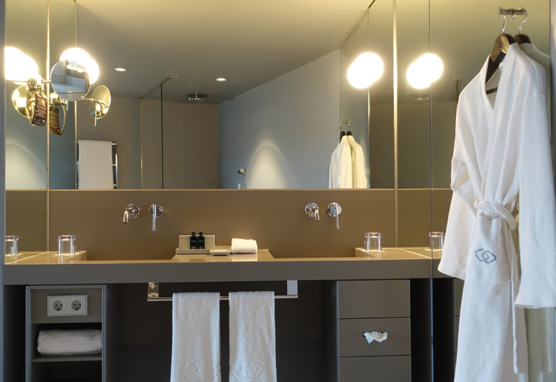 Review: Sofitel Vienna Stephansdom-Luxury Room Bathroom with Double Sinks