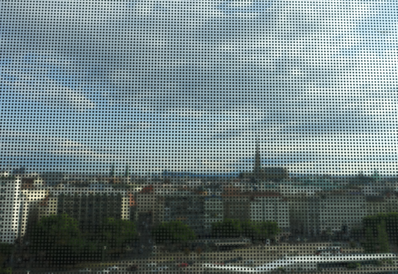 Review: Sofitel Vienna Stephansdom Luxury Room Window with Dots Obscuring the View
