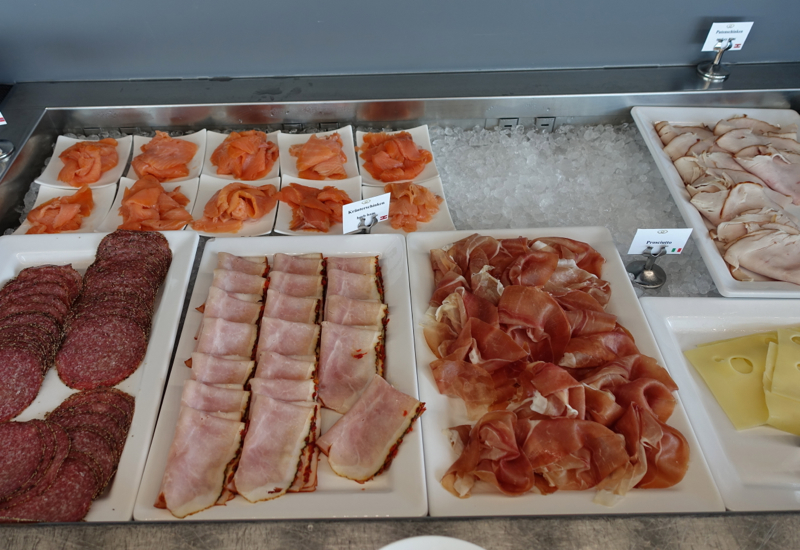 Smoked Salmon and Cold Cuts, Breakfast Buffet, Sofitel Vienna
