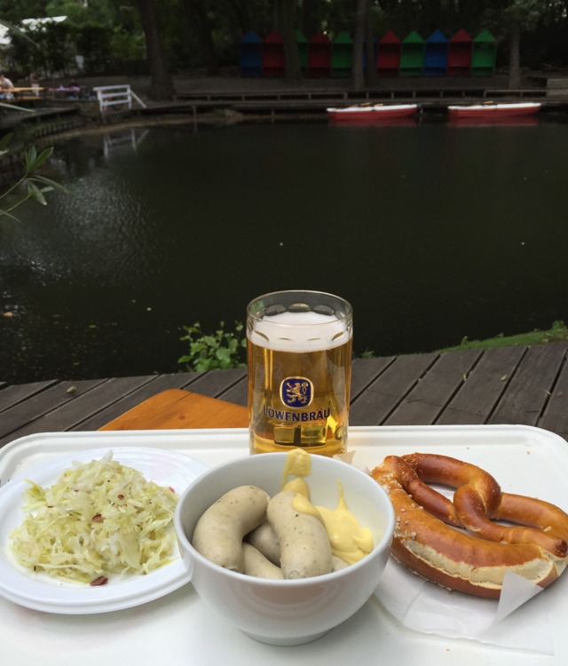 Wurst and Pretzel in Tiergarten, Berlin