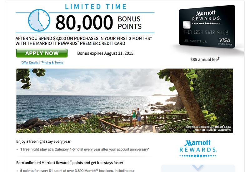80K Marriott Rewards Visa
