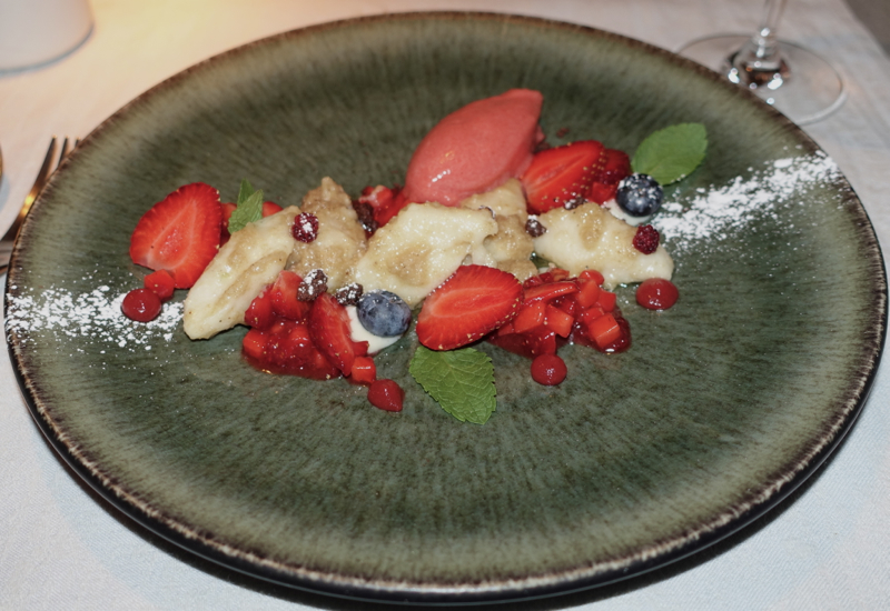 Curd Gnocchi with Strawberries and Berries, Labstelle Vienna