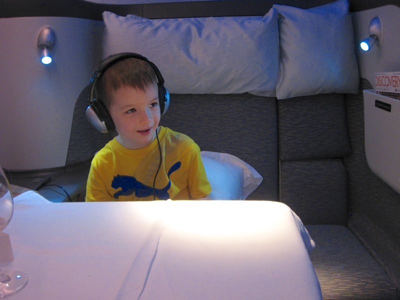 Cathay Pacific First Class: Extra Wide Seats are Great when Flying with Kids