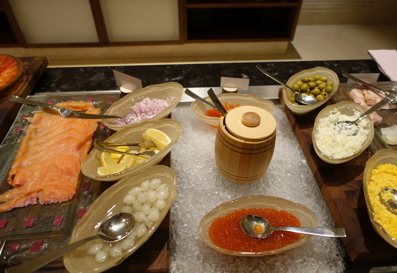 Caviar at Breakfast Buffet, Four Seasons Moscow Review